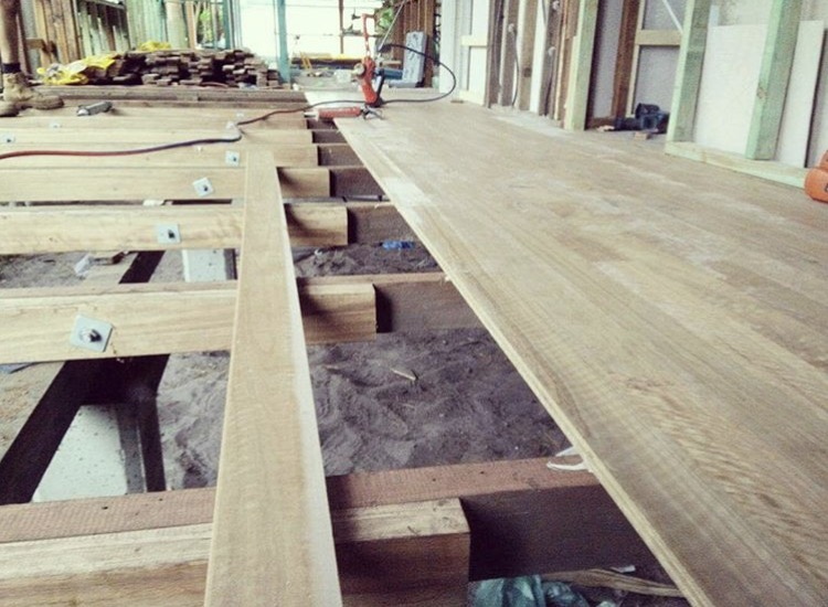 Recycled timber flooring - The Shack